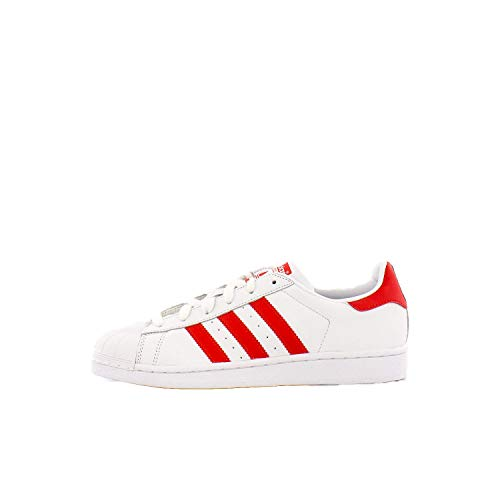 adidas Originals womens Superstar Sneaker, White/Active Red/Core Black, 7 US