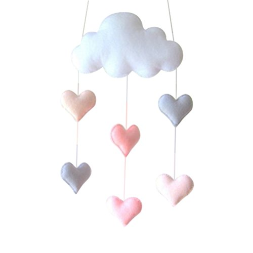 Ceiling Mobile Tinksky Hanging Cloud Decorations Heart Garland for Kids Room Baby Shower