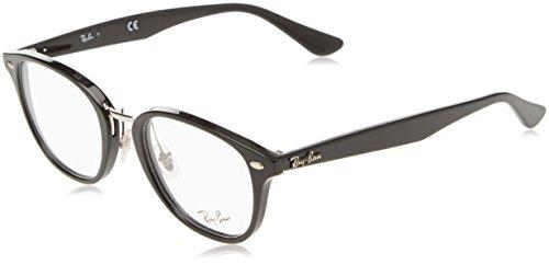 Ray-Ban 0RX 5355 2000 50 Montature, Nero (Shiny Black), Unisex-Adulto