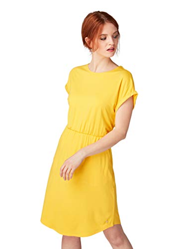 TOM TAILOR Damen 1010562 Kleid, Gelb (Golden Yellow 17278), Small