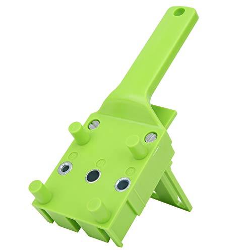 Fácil de instalar - Localizador de perforaciones ABS de plástico recto, para brocas de 6/8/10 mm (verde)