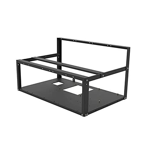 HELOIA Mining Rig Frame – 6/8 GPU placa base multi-gráficos, plataforma de minería abierta caja de marco fijo – Miner rack de...