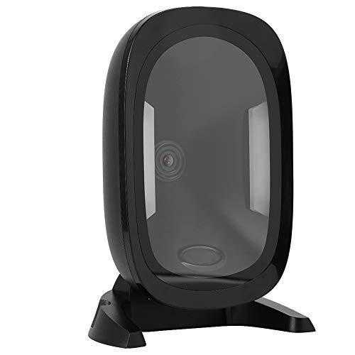 Zouminyy Scanner de Code USB, Scanner de Code QR de Plate-Forme de numérisation Filaire, supermarché de Bureau en matériau ABS Mains Libres résistant à la Rupture pour Le paiement Mobile