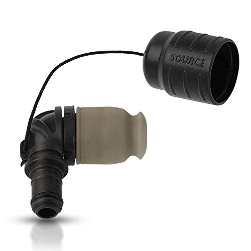 Source Tactical Exclusive Helix High-Flow Bite Valve with Minimal Bite Pressure (Black)