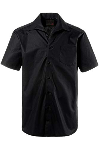 JP 1880 Herren große Größen Hemd, Halbarm, Variokragen, Comfort Fit-Schnitt schwarz 8XL 705178 10-8XL