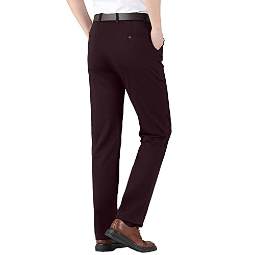 Briskorry Herren Anzughosen Hohe Taille Stretch Slim Fit Business Hose Stoffhose Lange Freizeithose Slim Fit Herrenhose