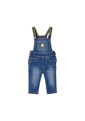 s.Oliver Unisex - Baby Latzhose mit bunten Trägern dark blue 92.REG