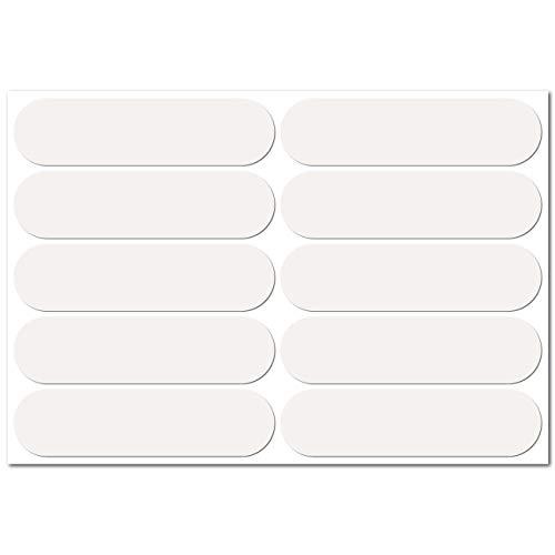 B REFLECTIVE, 10 Stück Kit Retro reflektierende Aufkleber, Nacht Sicherheit Signalisierung Klebeband Reflektor, für Fahrrad/Kinderwagen/Motorradhelme/Motorrad/Spielzeug, 7 x 1,8 cm Band, weiß