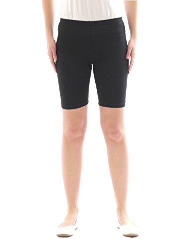yeset Kinder Shorts Sport Pants Sportshorts Kurze Leggings aus Baumwolle Jungen Mädchen schwarz 158