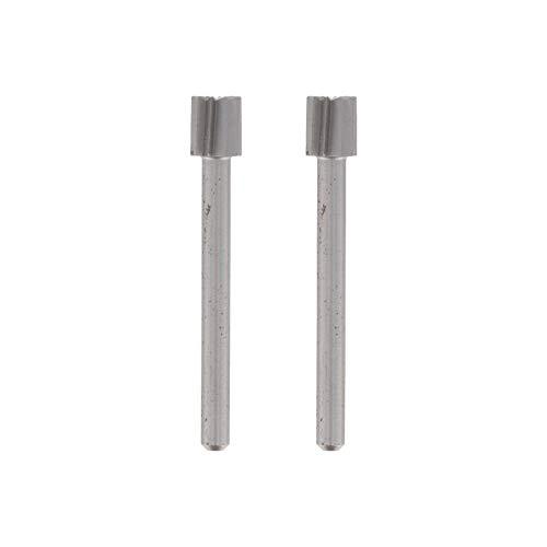 Dremel 196 Hochgeschwindigkeits-Fräser - Zubehörsatz für Multifunktionswerkzeug mit 2 Fräsern Ø5,6mm zum Schnitzen, Gravieren und Fräsen in Holz, Weichmetall, Beton u.v.m.