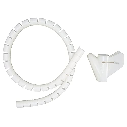 Manguito de tubo en espiral, Manguito de gestión de cables Resistencia a la temperatura de 10 m Flexible con alto punto de ignición para entornos de oficina(Φ28mm)
