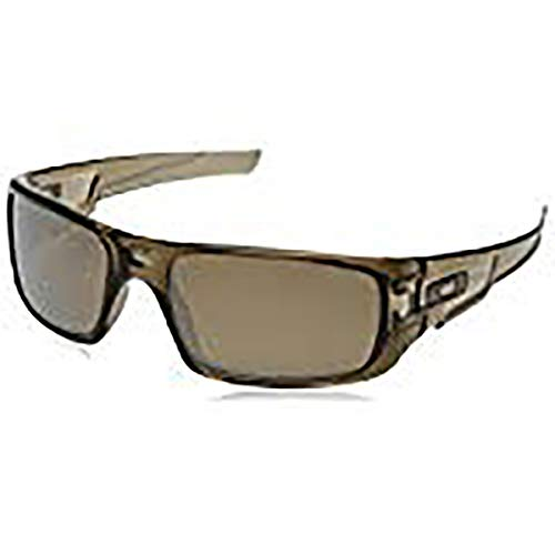 Oakley Men's OO9239 Crankshaft Rectangular Sunglasses, Brown Smoke/Brown Tungsten Iridium Polarized, 60 mm