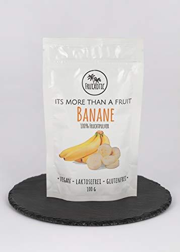 Fruixotic Banane Fruchtpulver Gefriergetrocknet 100g / 100% Frucht / keine Zusatzstoffe