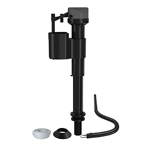 R&T A1250L Toilet Fill Valve, Toilet Tank Parts Replacement, Running Toilet Repair Kit, High Performance, Adjustable Height, Quiet Fill, Anti-Siphon, Easy to Install