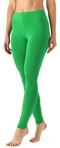 Merry Style Damen Lange Leggings aus Viskose MS10-143 (Grün, L)