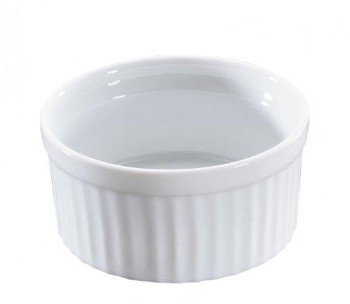 Küchenprofi 0754048209 Ragout Coupelle Classic Bourgogne Écran 9 cm, Lot de 24, Porcelaine, Blanc