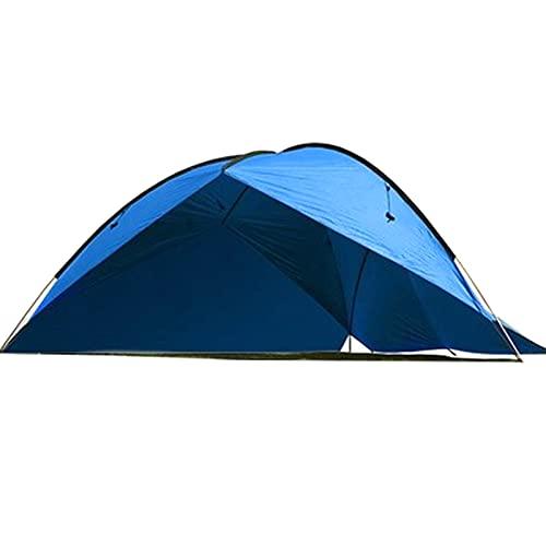 0℃ Outdoor Carpa Tienda de Fiesta Gazebo Toldo Abierto para Eventos Camping Impermeable Protección UV, Cómodo de Usar, Fácil de Montar, Toldo para Exteriores para Sandbeach,Azul,Two Circle