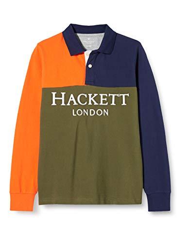 Hackett Boys HF Split LG Y Polo Sweater, 679MILITARY Green, Y15
