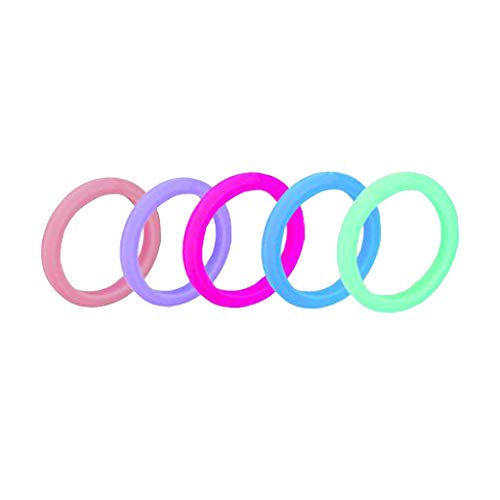 5 Unids Simple Elegante Anillos De Dedo Banda Colorida Silicona Collar Collar Pulsera - 2