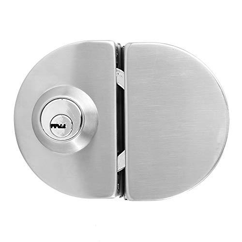 Garsent deurslot, roestvrij staal glazen deurslot deur eencilinder veiligheidsslot voor thuis hotel badkamer.