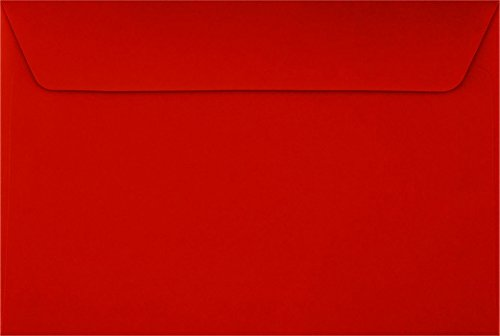 6 x 9 Booklet Envelopes - Holiday Red (50 Qty.)