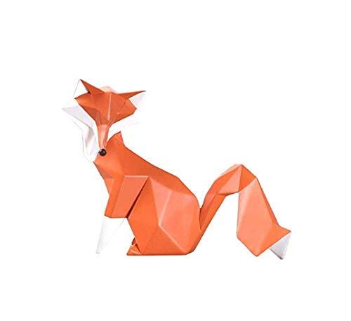 DJY-JY Escultura animal de resina zorro de salón, sala de TV, decoración de manualidades, gabinete de vino, regalo de cumpleaños de boda, 1 unids manualidades para el hogar