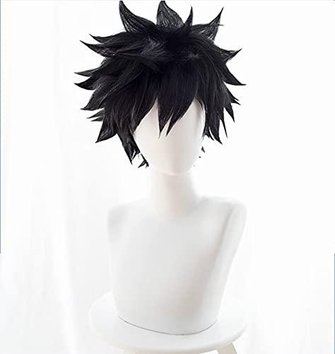 Mi héroe Academia Cosplay Dabi peluca disfraz Boku no Hero Academia corto negro pelo sintético pelucas de fiesta de Halloween