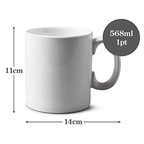 WM Bartleet & Sons 1750 T251 Traditional Porcelain Mug/Cup (1pt/568ml) – White