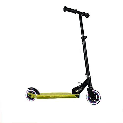 PTHZ Scooter Plegable de 2 Ruedas, Scooter Ligero Ajustable en Altura, Ruedas Intermitentes y Pedales Intermitentes, adecuados para niños y niñas de 3 a 14 años