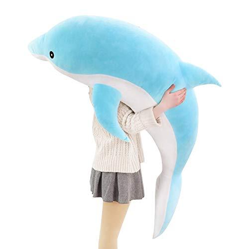 Stuffed Animals 30-120cm Kawaii Soft Dolphin Plush Toys Dolls Stuffed Down Cotton Animal Nap Pillow Creative Kids Toy for Girls-blue-120cm-120cm