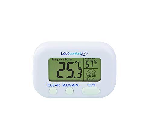 Bébé Confort Thermomètre Hygromètre, Mesure la Température et L'humidité, Convient dès la Naissance