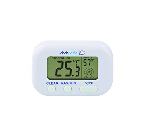 Bébé Confort Termometro Igrometro Digitale, Misura Temperatura e Umidità Ambiente