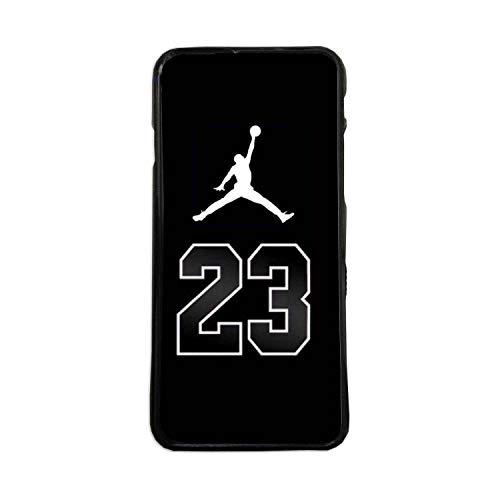 Custodia per Cellulare in TPU Compatibile con Il Cellulare Modello Air Jordan 23 Sfondo Nero