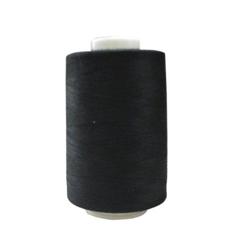 FUJIX キングスパン (ポリエステルミシン糸) 90番/5000m COL.402 黒