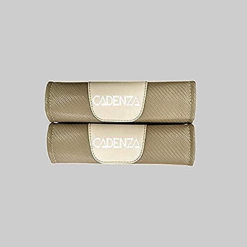 2 Piezas con Auto Logo Almohadillas ProteccióN CinturóN Seguridad para Kia Cadenza, CinturóN de Seguridad Correa Hombreras Coche Interior DecoracióN Accesorios