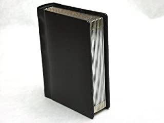 Professional 5x7 BLACK Silver Edged Slip-in Wedding/Parent Photo Album holds 20 photos