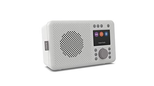 Pure Elan DAB+ tragbares DAB+ Radio mit Bluetooth 5.0 (DAB/DAB+ und UKW Radio, TFT Farbdisplay, 20 Senderspeicher, Preset-Tasten, 3.5mm Klinkenstecker, Batteriebetrieb möglich, USB), Stone Grey