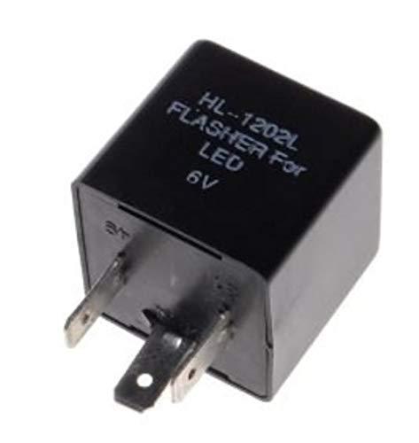 1x 6V LED Blinkrelais für Oldtimer Blinker lastunabhängig 3-polig Blinkgeber
