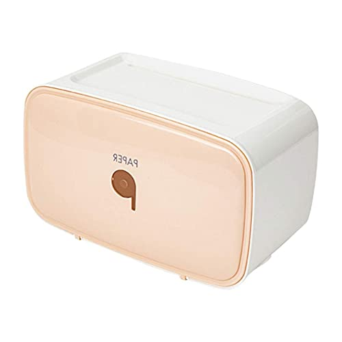 LITINGT Portarrollos de Papel higiénico Caja de pañuelos WC Dispensador de Toallas de Cocina Soporte de Papel Impermeable montado en la Pared Estante Bandeja de Papel higiénico Caja de Almacenamiento