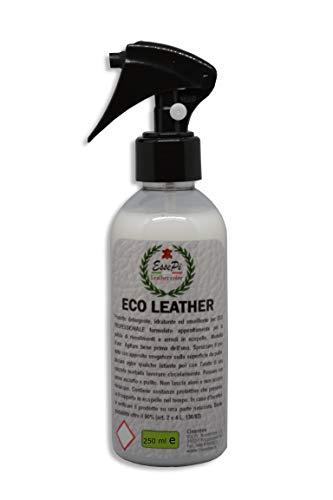Eco Leather detergente per Articoli in Ecopelle, Similpelle, Vinile e Skai. Pulisce, nutre e Protegge. Prodotto Professionale di Alta qualità. Base acquosa No Toxic. 250 ml