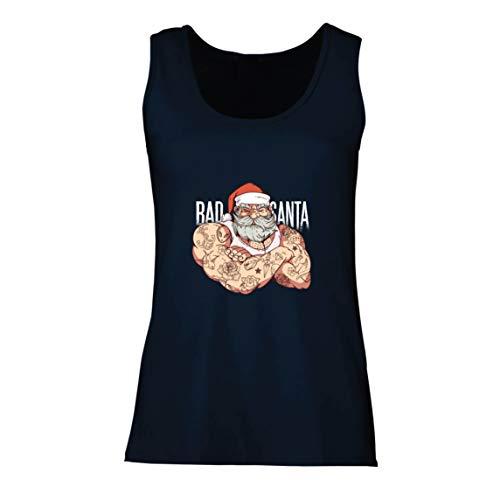 lepni.me Camisetas sin Mangas para Mujer El Mal Santa Amante del Gimnasio