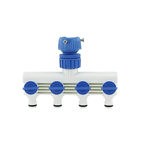 セフティー3 蛇口 ホース 分岐コネクター 4方向 10~15㎜内径対応 中間コック付 SSK-9