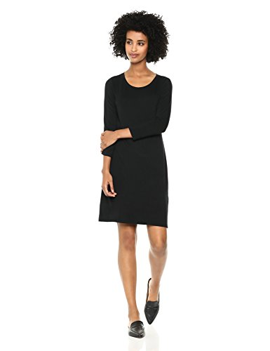 Amazon Brand – Daily Ritual Women's Jersey 3/4-Sleeve Scoop-Neck T-Shirt Dress