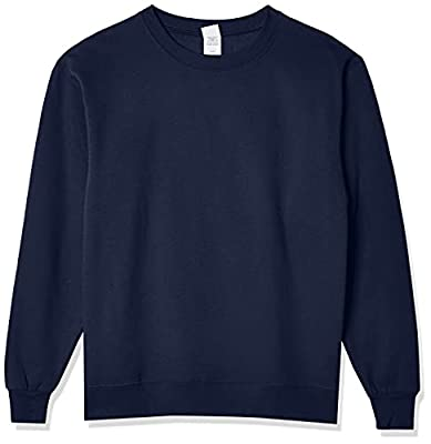 Hanes Men's EcoSmart Sweatshirt, Navy, XL by Hanes Branded Printwear
