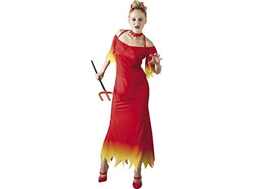 DISONIL Disfraz Demonia Mujer Traje Largo TallaXL