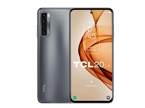 "TCL 20L+ 256 GB - Smartphone de 6.67"" FHD+ con NXTVISION (Qualcomm Snapdragon 662, 6GB/256GB Ampliable MicroSD, Dual SIM, Cámaras 64MP+8MP+2MP+2MP, Batería 5000mAh, Android 11) Negro"