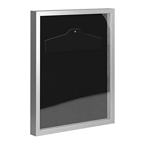 Objektrahmen Trikotrahmen VARIO inkl. Bügel und Passepartout 30x60cm Mattsilber (lackiert)