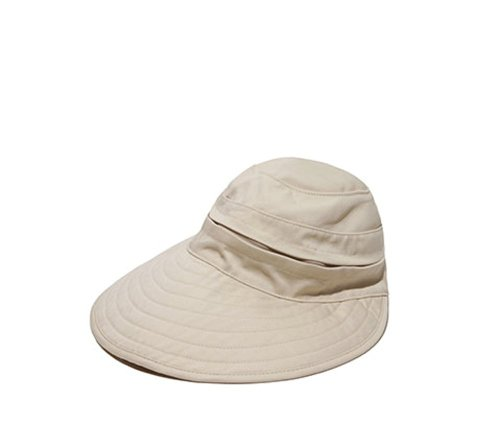 Physician Endorsed Womens Naples Khaki Cotton Cap/Visor