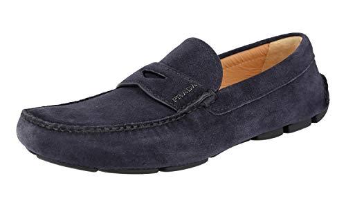 Prada Herren Blau Leder Business Schuhe 2DD001 E1D F0008 44.5 EU/UK 10.5