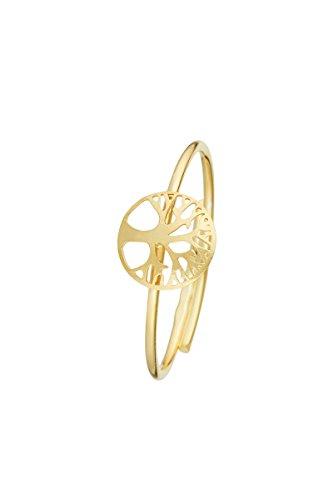 Córdoba Jewels | Sortija en Plata de Ley 925 bañada en Oro. Diseño Árbol de...